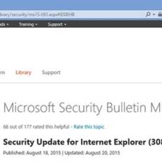 Microsoft releases Critical update for Internet Explorer