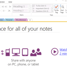 Taking notes to a new level with OneNote