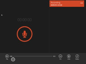 Windows 8.1 - Sound Recorder app