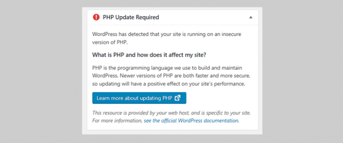 Running a WordPress website? It's time upgrade your PHP!
