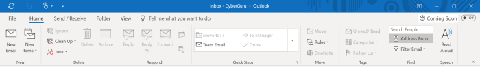 Ribbon changes are coming to Microsoft Office - Example of Ribbon changes - Microsoft Outlook