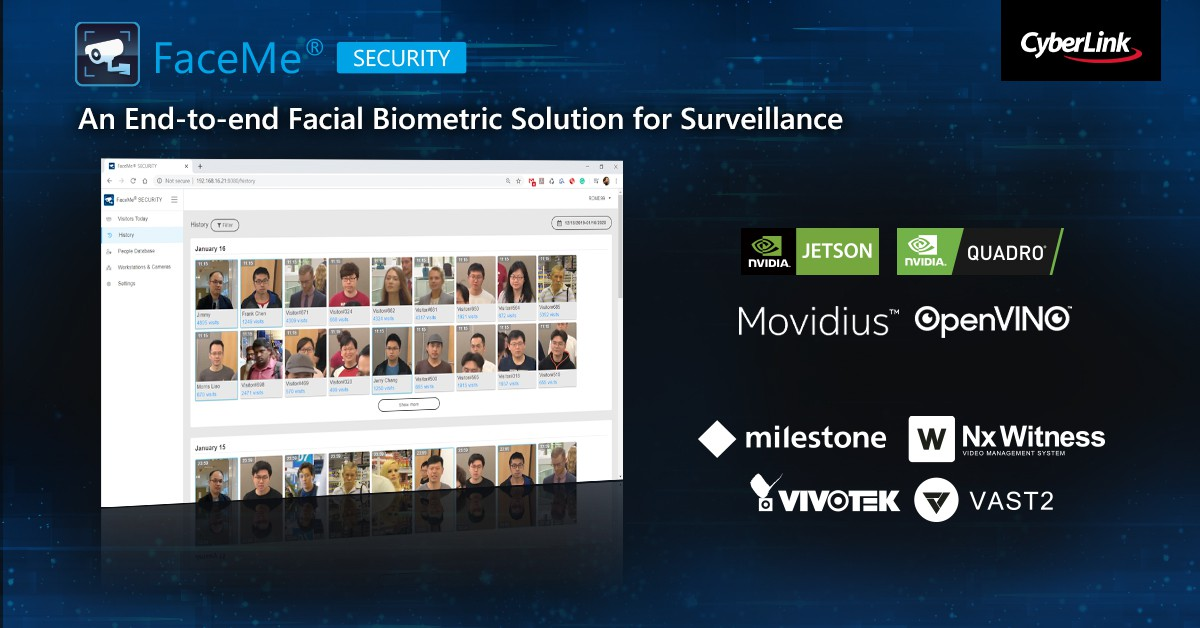 CyberLink Releases New FaceMe® Security – an End-to-end Facial Biometric Solution for Security, Access Control and Health Checks