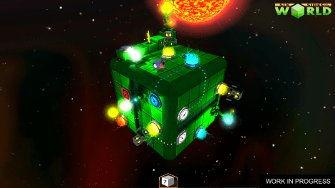 Concept planet with multi-teleports and switch buttons