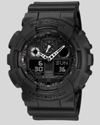 3.CASIO G-SHOCK GA100-1A1 THE GA 100 MILITARY SERIES WATCH