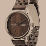Automatic Men's Wooden Watch RAÚL – Wrist Watch Made of Natural Sandalwood and Stainless Steel Case - Businessmen Style