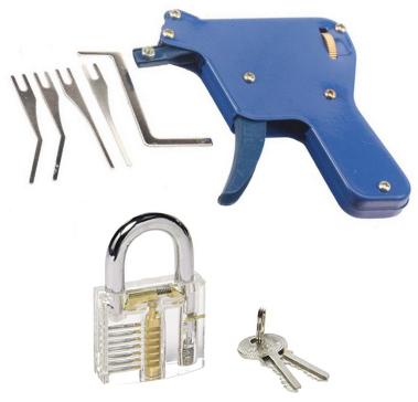 Snap gun and clear lock
