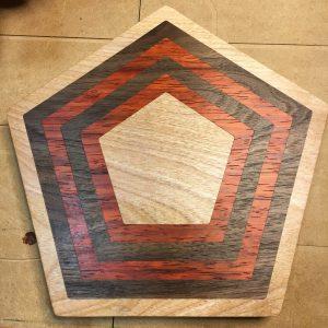 Pentagon Inlay Cutting Board