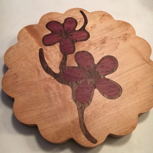 Maple base with Purple Heart and Walnut Inlay