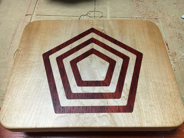 Pentagon Inlay Cutting Board