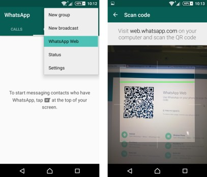 Whatsapp QR code to scanning in tamil