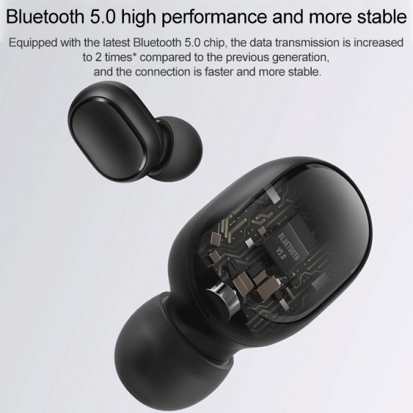 Xiaomi Redmi AirDots 2 TWS Black BT5.0 Wireless Earbuds