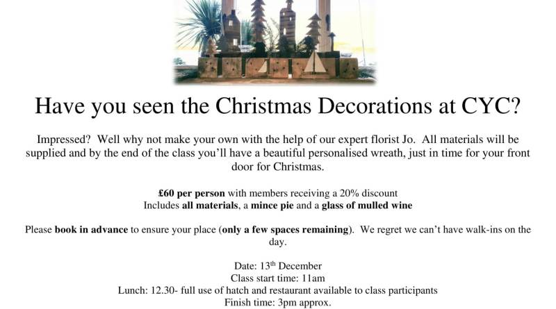 Wreath making with Jo…only a few spaces left…