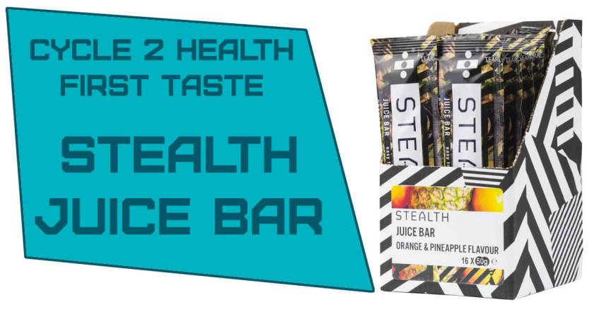 Stealth Juice Bar Taste Test for Orange and Pineapple flavoured Cycling Nutrition
