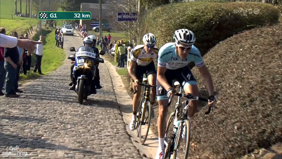 Cycleboredom | Screencap Recap: Dwars Door Vlaanderen & E3 Prijs Vlaanderen - Harelbeke - Terpstra Point Break