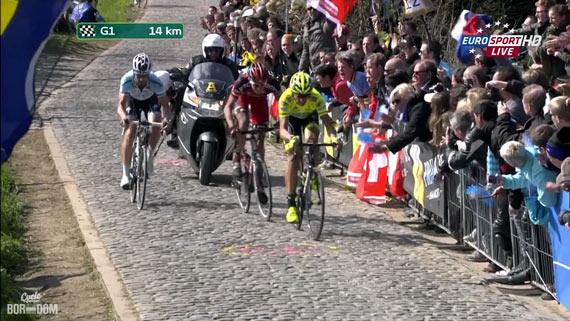 Cycleboredom | Screencap Recap: Ronde van Vlaanderen - Boonen Gapped