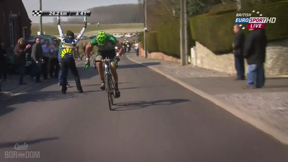 Screencap Recap: Paris-Roubaix 2013 - Gaudin Kills His Bidon