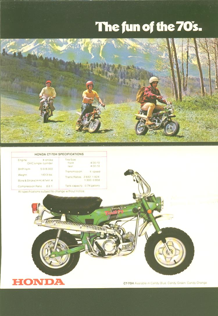 Honda Ct70 Brochures Cyclechaos