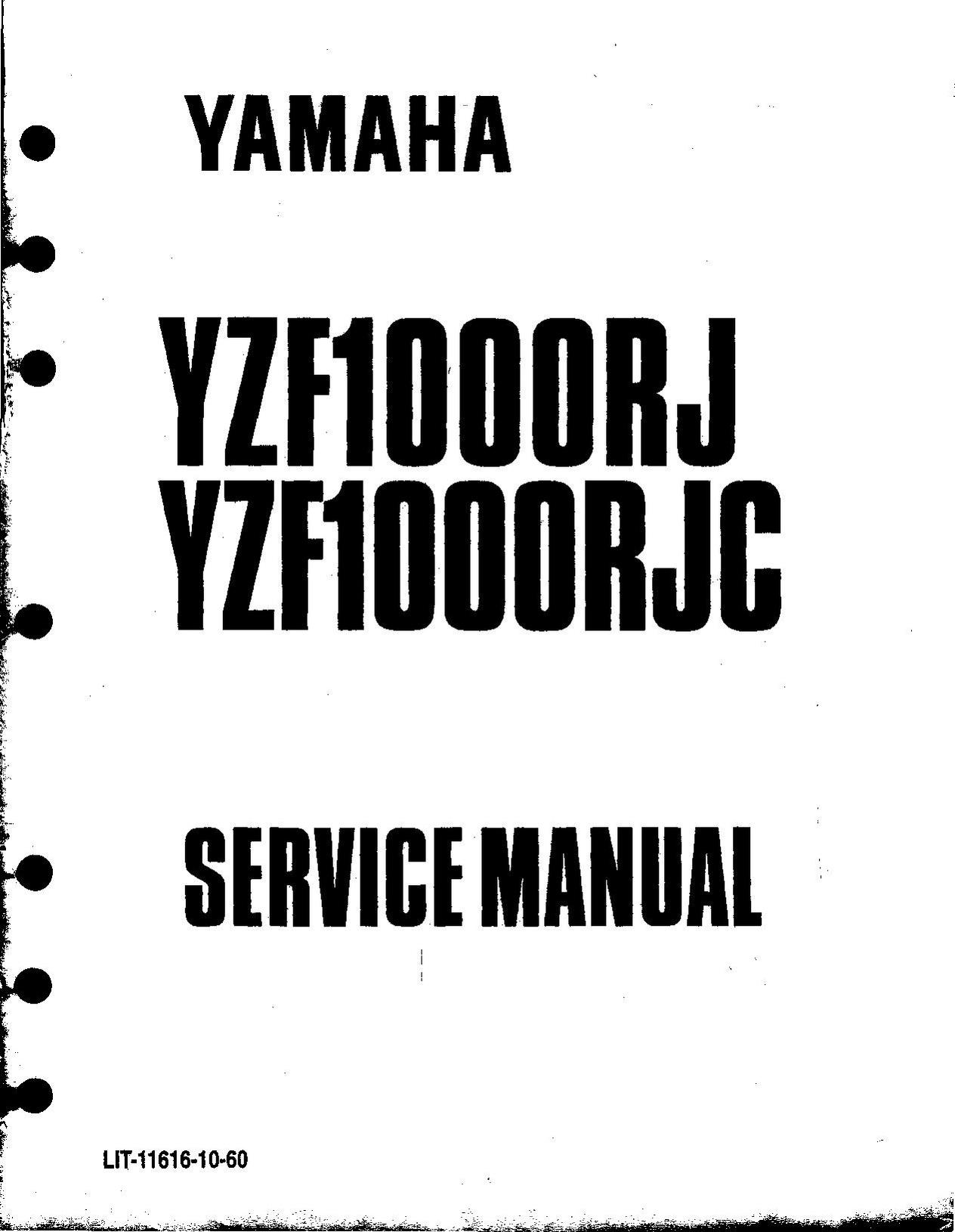 File Yamaha Yzf Rj Rjc Service Manual