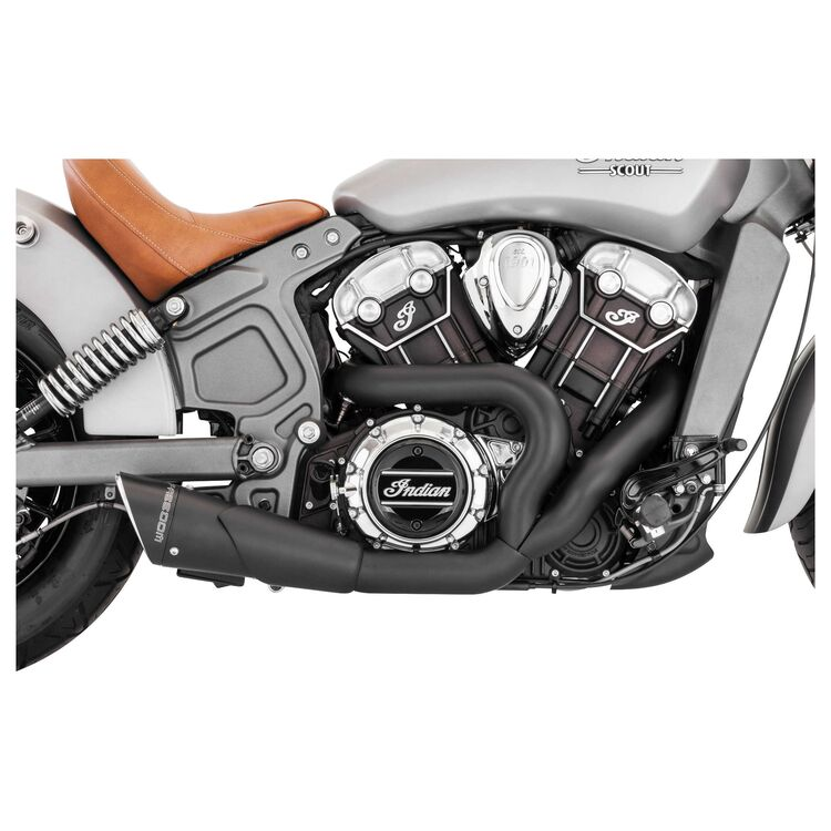 freedom performance exhaust combat 2 into 1 shorty exhaust for indian scout 2015 2021