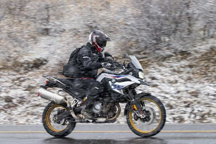 Yes, we really did ride through snow.