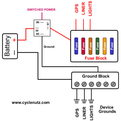 connect to wire fuse box  schematic wiring diagram power