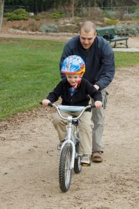 First bikes for children - cycling help