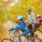 Cycling with your family in the autumn - keeping warm and dry