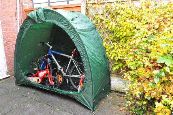 The Bike Cave Review - an outdoor bike storage tent for kids and adult bikes