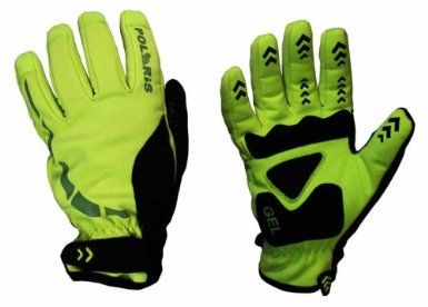 Polaris Mini Hoolie Bright Yellow Kids Winter Cycling Gloves