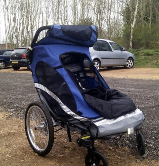 Zigo Leader tricycle for carrying children - in pushchair mode