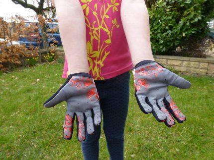 Long fingered kids cycling glove Vortex BMX glove review