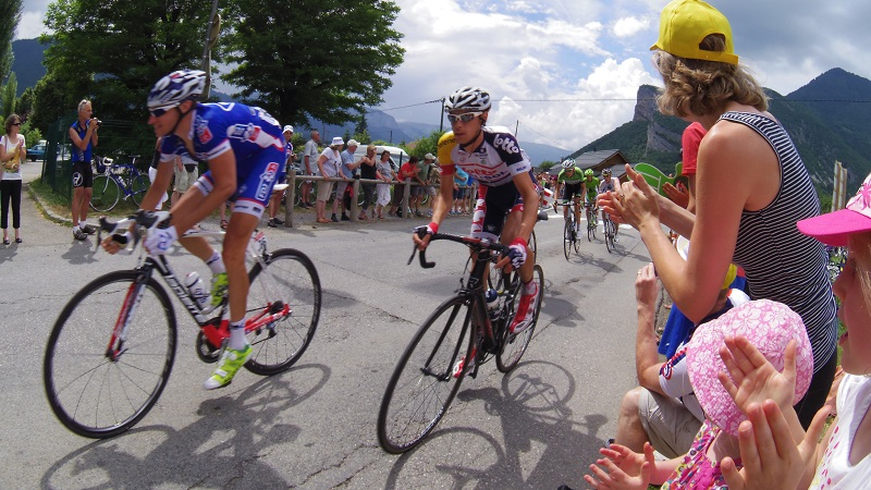 Cheering on the Tour de France