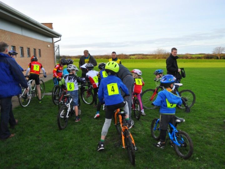 First time riding kids cyclocross race