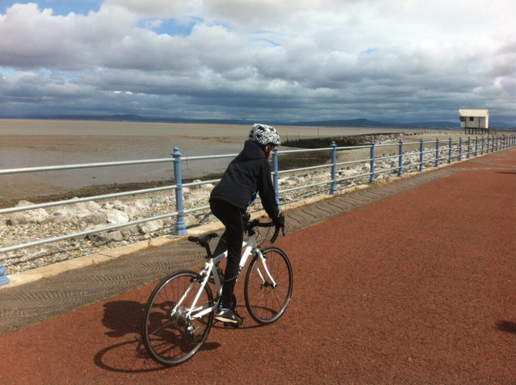 The Bay Cycle Way - one of the many family cycle routes in Lancashire