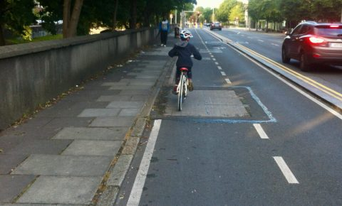 Segregated cycle path