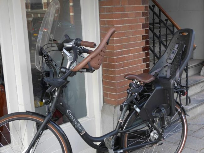 Yepp Mini and Maxi on the same bike