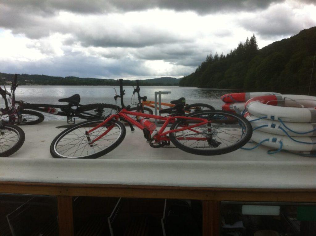 Islabises Beinn aboard the Windermere Bike Boat