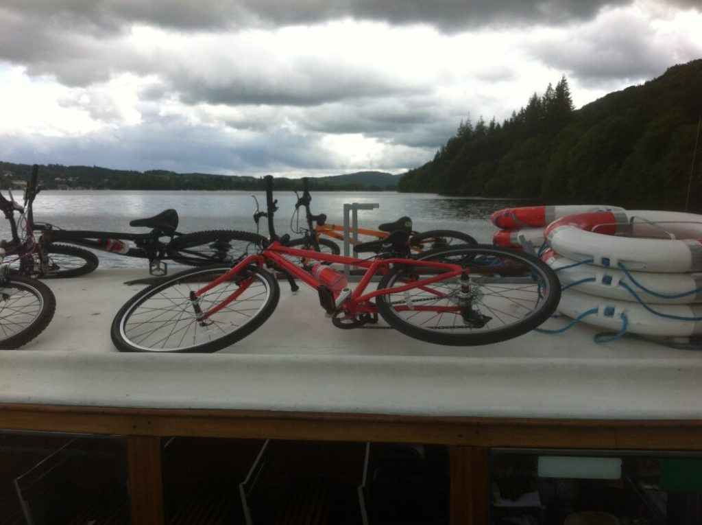 Islabises Beinn aboard the Windermere Bike Boat