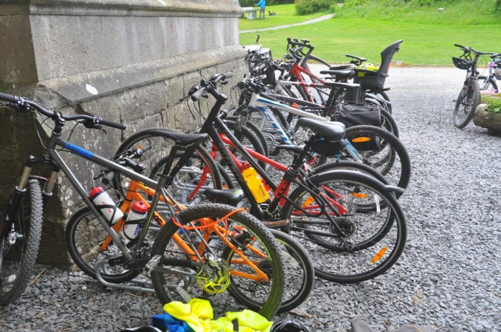 Bike racks at Wray Castle Lake District