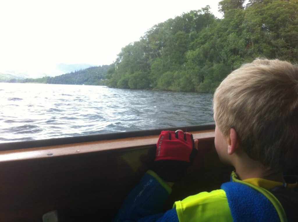 View from the Windermere Bike Boat