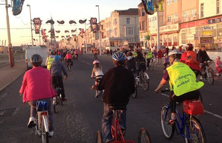 All ages take part in the Blackpool Ride the Lights