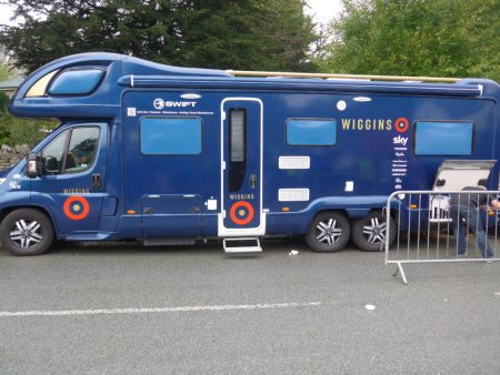 WIGGINS team bus - Tour of Britain 2016