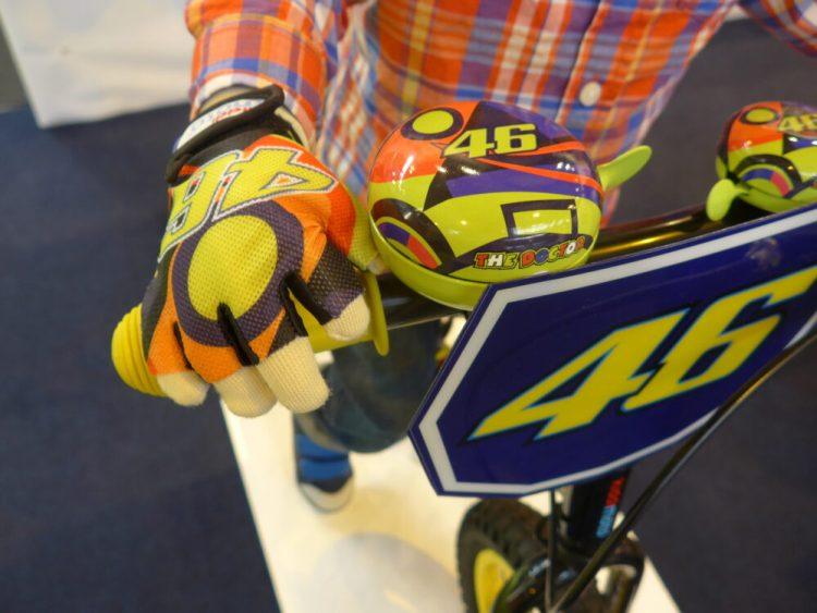 Accessories to go with the Kiddimoto Valentino Rossi Balance Bike