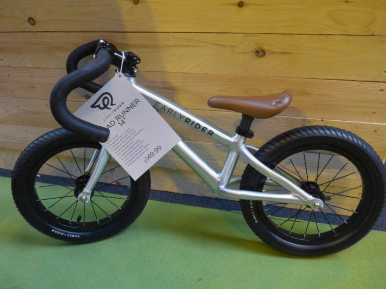 "Early Rider Road Runner 14"" balance bike at the 2016 Cycle Show"