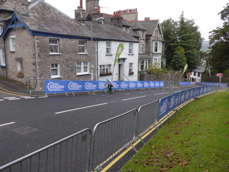 Islabikes Luath 26 being ridden up Beast Banks Kendal Tour of Britain Stage 2