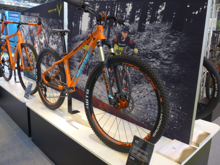Whyte Bikes junior 405 mountain bike at the 2016 Cycle Show, NEC Birmingham