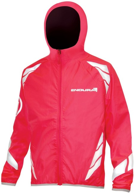 Pink Hooded Kids Lightweight Cycling Jacket