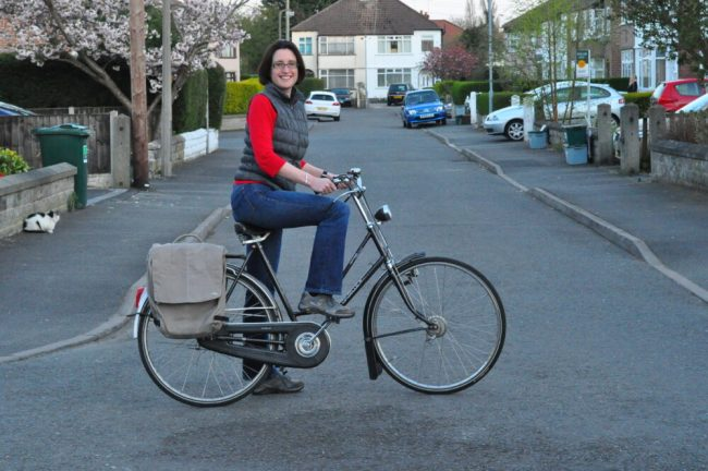Riding a Gazelle Dutch Bike for the first time