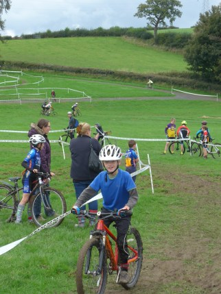 Enjoying the U8 cyclo-cross league race