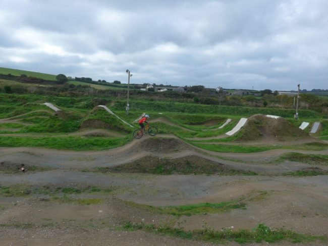 The Track Family Bike Park at Portreath near Redruth, Cornwall